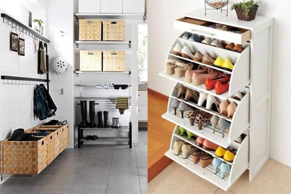7 pomysłów na przechowywanie butów