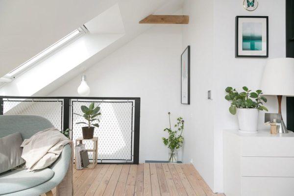 Szwedzkie mieszkanie z botanicznymi motywami
