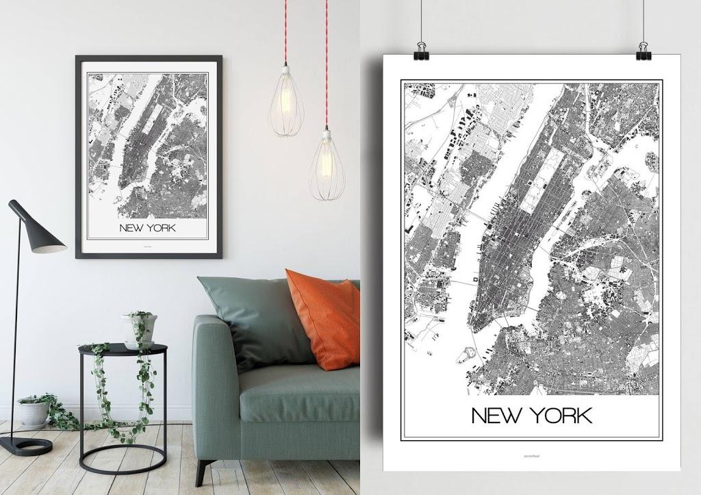 Plakaty z planami miast, inny wymiar geografii